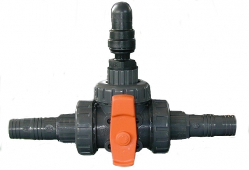 "Manual flushing system (1"" three way valve - SC - V - KIT - DOUBLE models)"